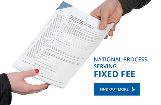 National Process Serving – Fixed Fee